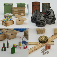 3d model urban debris pack