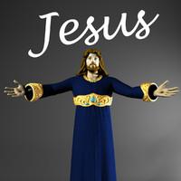 3d king jesus model