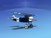 fokker dviii fighters 3d max