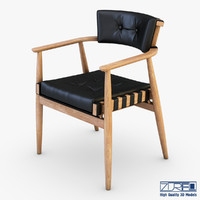 leather chair black 3d max