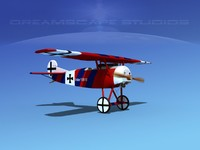 3d fokker dviii fighters model