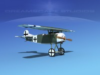 3d fokker dviii fighters