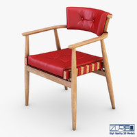 leather chair red 3d model