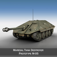 c4d maresal tank destroyer -
