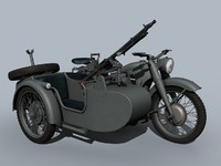 german wwii bmw r-12 3d model
