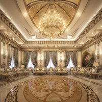 classical vip reception 3d model