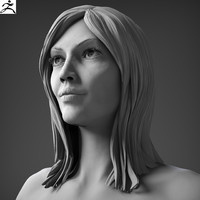 3d realistic nude woman zbrush model