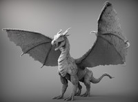 3d dragon zbrush ztl model