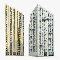 3d residential buildings model