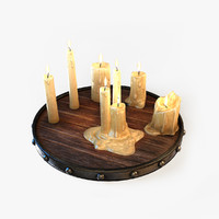 3d candles light