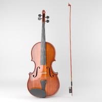 aged violin 3d model
