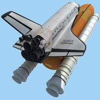 3d model nasa space shuttle challenger