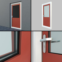 single exterior door settings 3d 3ds
