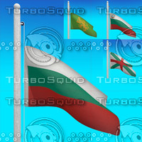 3d flags bulgaria