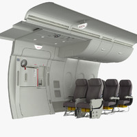 emergency exit a380 wall obj