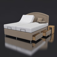 adjustable bed 3d model