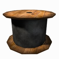 cable reel 3d max