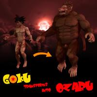 giant gokus 3d model