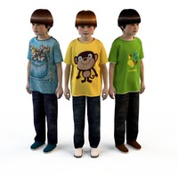 fashion clothing children baby s 3d max