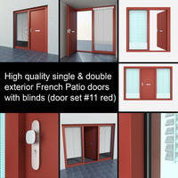 single exterior door settings 3d max