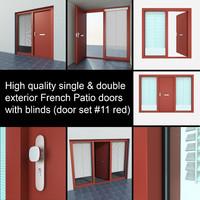 single exterior door settings 3d max
