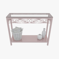 Rose Gold Console Table Set