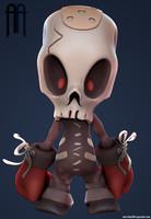 skull kid character 3d obj