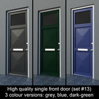 3d single door settings model