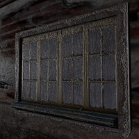 3d model window creepy old
