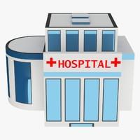 hospital building 3d 3ds