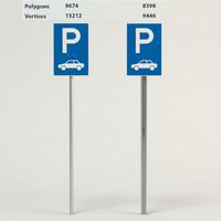 3d parking facilities passenger cars model