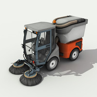 Street Sweeper - Low Poly