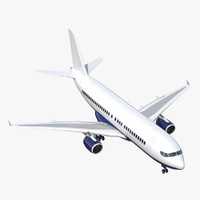 rigged airliner 3d model