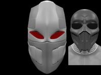 3d robot helmet