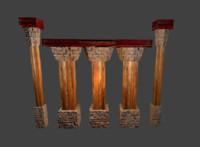 wooden pillar fbx