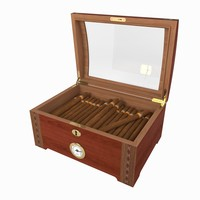 3d humidor cigars box model