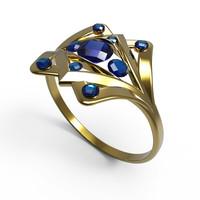 sapphires 3d model