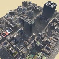 3d model realistic city scenes