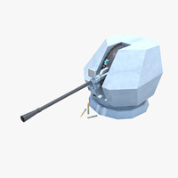 3d model bofors 40mm mk4 naval gun