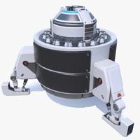 sci-fi module device 3d max