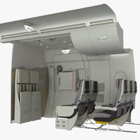 A380 Emergency Exit with Crew Seat and First Row