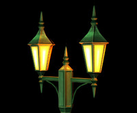 lamp post object 3d model