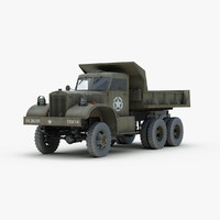ww2 diamond t dump truck 3d model