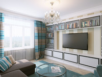 3d model interior livingroom