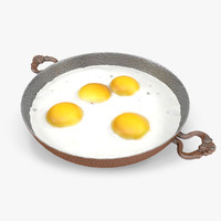 fried egg 3d model