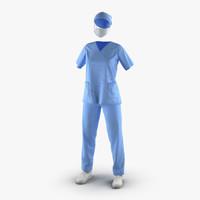 obj female surgeon dress 16