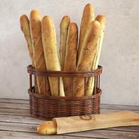 3d max baguette basket