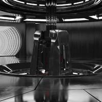 sci fi interior 3d max