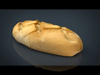 realistic bread 3d model