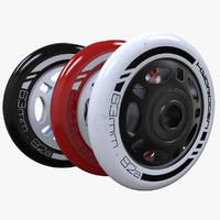 roller wheels 3d model